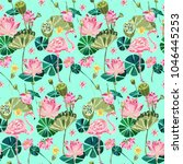 cute exotic pattern with... | Shutterstock .eps vector #1046445253