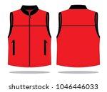 red vest tank top design | Shutterstock .eps vector #1046446033