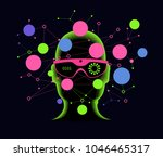 cyberspace  augmented reality ... | Shutterstock .eps vector #1046465317