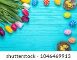 Easter Eggs With Colorful...