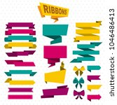 colorful design elements flat... | Shutterstock .eps vector #1046486413