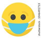 smiley face wearing mask ...   Shutterstock .eps vector #1046492713