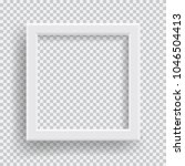 empty realistic photo frame... | Shutterstock .eps vector #1046504413