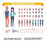 young guy and girl character... | Shutterstock .eps vector #1046544907