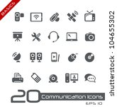 Communication Icons // Basics - stock vector