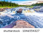 Small photo of Forest wild river landscape