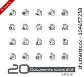 Documents Icons - 1 of 2 // Basics - stock vector