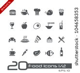 Food Icons - Set 1 of 2 // Basics - stock vector