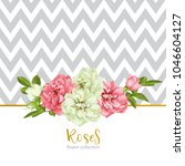 wedding invitation with wild... | Shutterstock .eps vector #1046604127