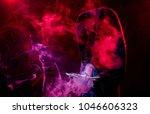 dark silhouette reaching... | Shutterstock . vector #1046606323