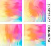 set of four square backgrounds. ... | Shutterstock .eps vector #1046618143