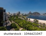 view of botafogo beach with the ... | Shutterstock . vector #1046621047