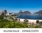 view of botafogo beach with the ... | Shutterstock . vector #1046621053