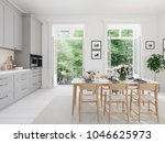 3d rendering of modern kitchen... | Shutterstock . vector #1046625973
