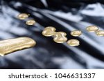 drops of golden paint  polish ... | Shutterstock . vector #1046631337