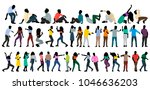 isometric people dance  set ... | Shutterstock .eps vector #1046636203