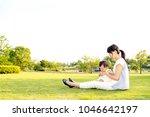 family lifestyle scene of... | Shutterstock . vector #1046642197