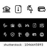 pack icon set and construction...