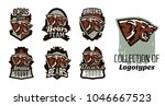 a collection of logos  emblems... | Shutterstock .eps vector #1046667523