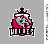 colorful emblem  logo  snarling ... | Shutterstock .eps vector #1046667547