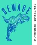 typography slogan with dinosaur ... | Shutterstock .eps vector #1046667553