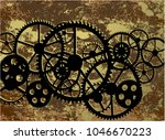 dirty background with a... | Shutterstock .eps vector #1046670223