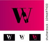 symbol with letter w and... | Shutterstock .eps vector #1046697433