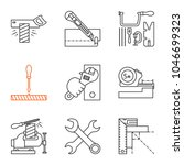 construction tools linear icons ... | Shutterstock .eps vector #1046699323