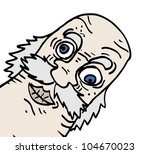 old man expression | Shutterstock .eps vector #104670023