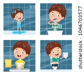 vector illustration of kid... | Shutterstock .eps vector #1046703577