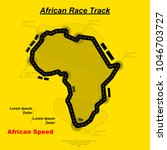 black road in africa form... | Shutterstock .eps vector #1046703727