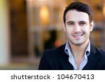 portrait of a handsome casual...   Shutterstock . vector #104670413