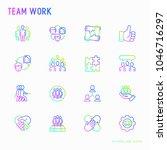 teamwork thin line icons set ... | Shutterstock .eps vector #1046716297
