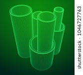 wireframe low poly mesh... | Shutterstock .eps vector #1046727763