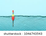 fishing net with homemade... | Shutterstock . vector #1046743543
