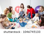 young moms with their kids   Shutterstock . vector #1046745133