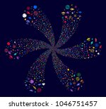 psychedelic space technology... | Shutterstock .eps vector #1046751457