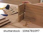 board chipboard cut parts | Shutterstock . vector #1046781097