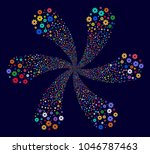 psychedelic cog cyclonic motion ... | Shutterstock .eps vector #1046787463