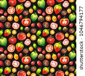 vegetables watercolor set.... | Shutterstock . vector #1046794177