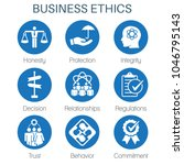 business ethics solid icon set... | Shutterstock .eps vector #1046795143