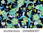 seamless intricate pattern with ... | Shutterstock .eps vector #1046806507