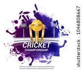 cricket championship concept... | Shutterstock .eps vector #1046808667