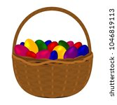 multicolored colorful eggs for... | Shutterstock . vector #1046819113