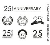 25 years anniversary icon set.... | Shutterstock .eps vector #1046829937