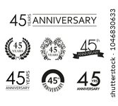 45 years anniversary icon set.... | Shutterstock .eps vector #1046830633