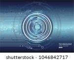 vector circuit board... | Shutterstock .eps vector #1046842717
