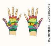 hand reflexology scheme with...   Shutterstock .eps vector #1046853043