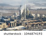 a huge and working cement plant ... | Shutterstock . vector #1046874193