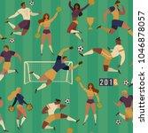 football soccer players... | Shutterstock .eps vector #1046878057